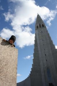 Menningarferð í miðborg Reykjavíkur í fallegu veðri