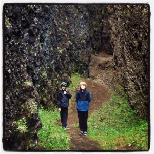 Ævintýralegur dagur í Lambafellsgjá á Reykjanesi
