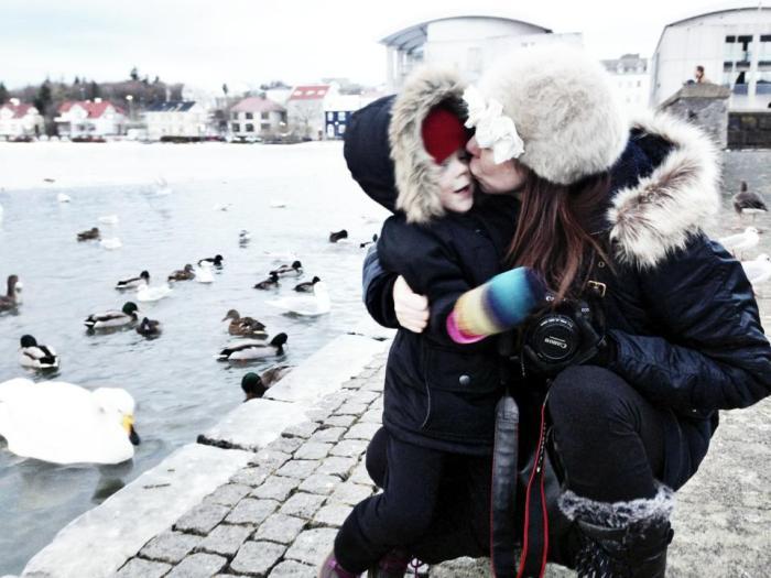 Between feeding the ducks EH